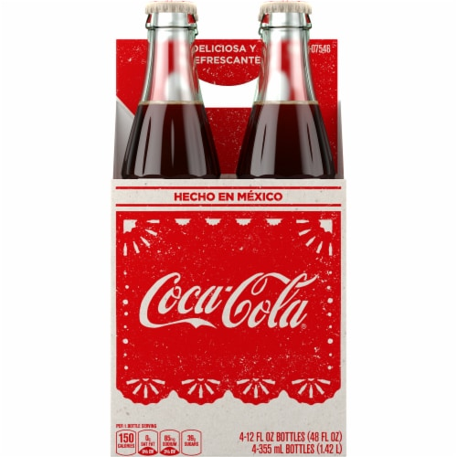 Coca-Cola® Mexican Glass Bottle Soda Perspective: front
