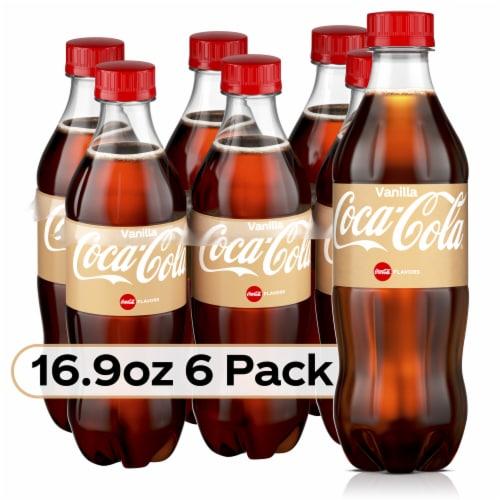 Coca-Cola Vanilla Cola Soda Perspective: front