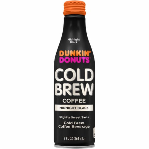 Dunkin' Donuts Midnight Black Cold Brew Coffee Perspective: front