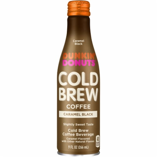 Dunkin' Donuts Caramel Black Cold Brew Coffee Perspective: front