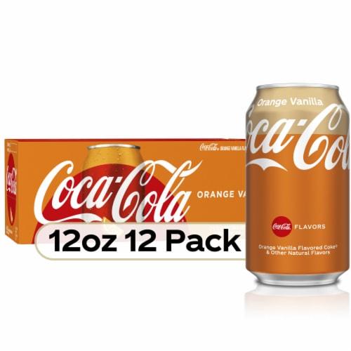Coca-Cola Orange Vanilla Cola Soda Perspective: front