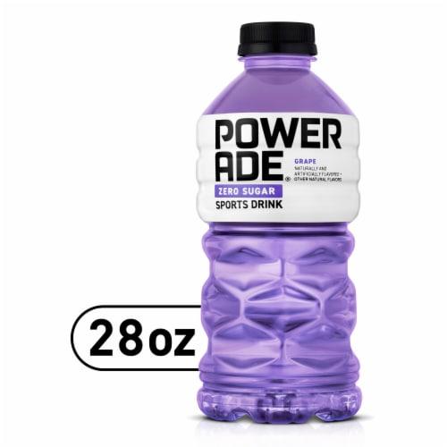 Powerade Zero Sugar Grape Sports Drink Perspective: front