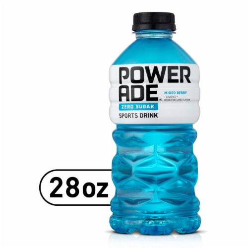 Powerade Zero Sugar Mixed Berry Sports Drink Perspective: front