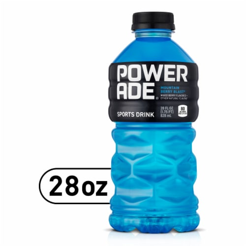 Powerade Mountain Berry Blast Sports Drink Perspective: front