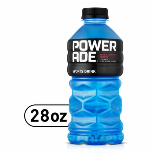 Powerade Blue Raspberry Cherry Flavored Sports Drink Perspective: front