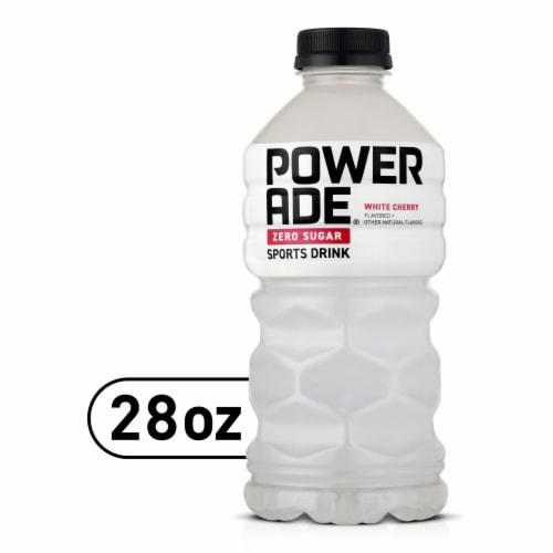 Powerade Zero White Cherry Sports Drink Perspective: front