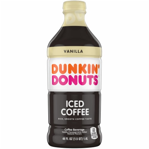 Dunkin' Donuts Vanilla Iced Coffee Beverage Perspective: front