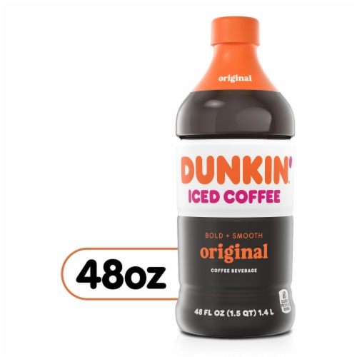 Dunkin' Donuts Original Iced Coffee Beverage Perspective: front
