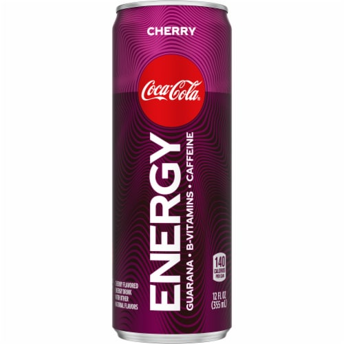 Coca-Cola Cherry Energy Drink Perspective: front