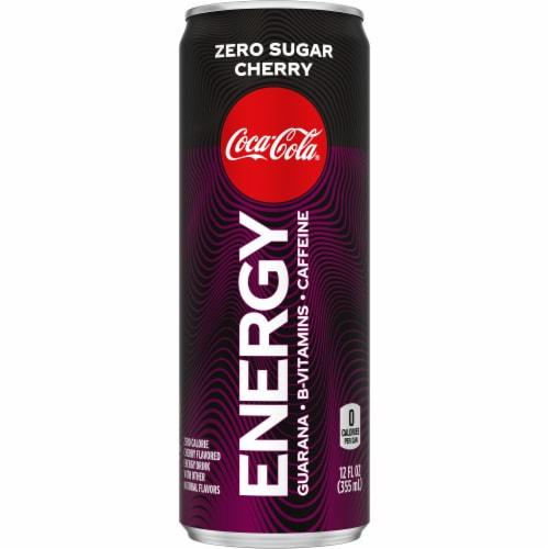 Coca-Cola Zero Sugar Cherry Energy Drink Perspective: front