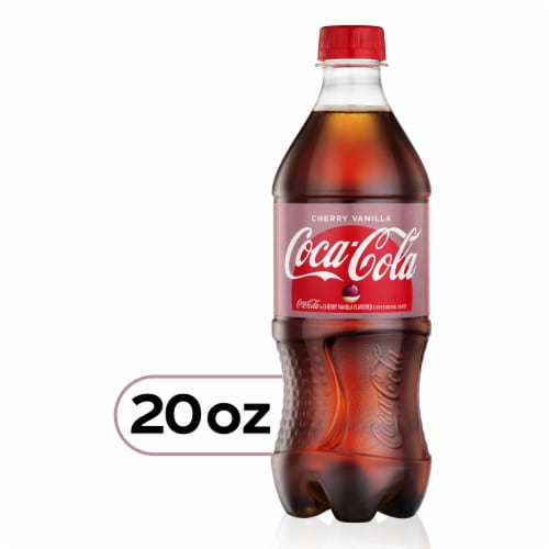 Coca-Cola Cherry Vanilla Cola Soda Perspective: front