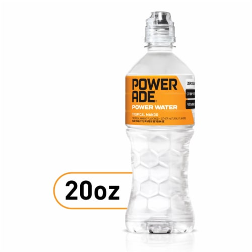 Powerade Power Water Tropical Mango Sports Drink Perspective: front
