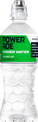 Powerade Power Water Cucumber Lime Sports Drink Perspective: front