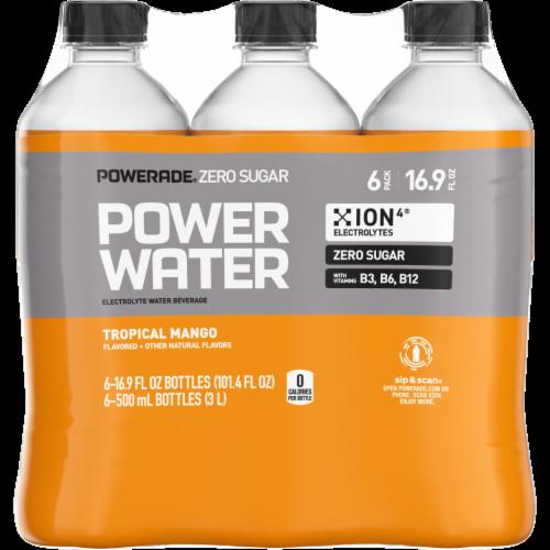 Powerade Zero Sugar Power Water Tropical Mango Perspective: front