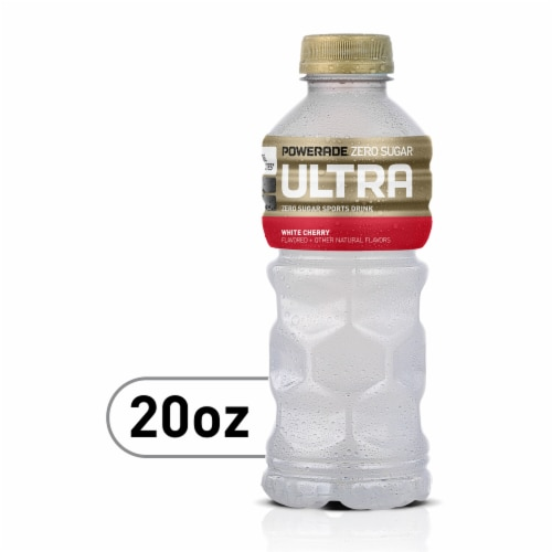 Powerade Ultra White Cherry Sports Drink Perspective: front