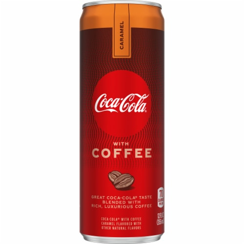 Coca-Cola with Coffee Caramel Soda Perspective: front