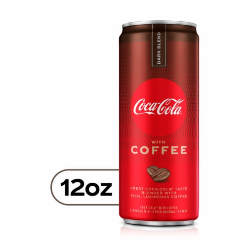 Coca-Cola with Coffee Dark Blend Soda Perspective: front