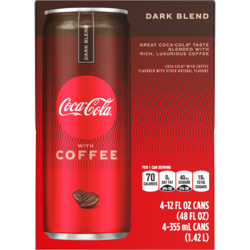 Coca-Cola with Coffee Dark Blend Beverage Perspective: front