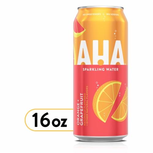 AHA Orange Grapefruit Sparkling Water Perspective: front