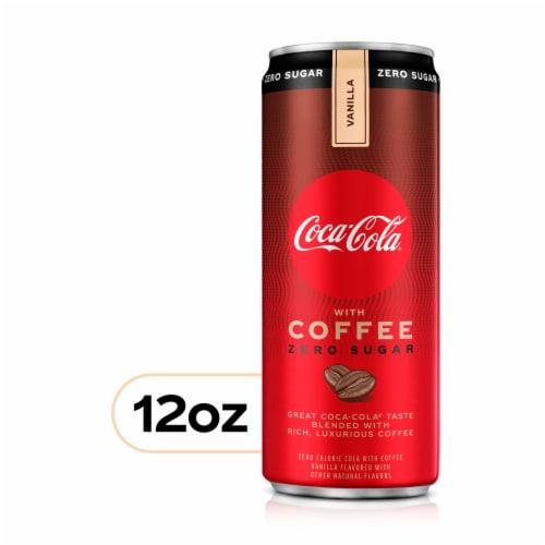 Coca-Cola with Coffee Vanilla Zero Sugar Soda Perspective: front