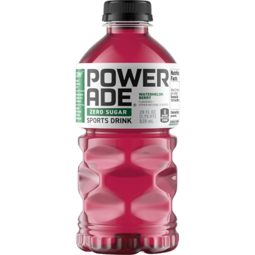 Powerade Zero Sugar Watermleon Berry Sports Drink Perspective: front