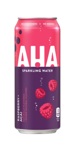 AHA Raspberry Acai Sparkling Water Perspective: front