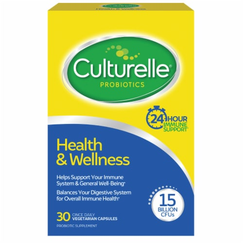 Culturelle Probiotics Health & Wellness Daily Immune Support Capsules 30 Count Perspective: front