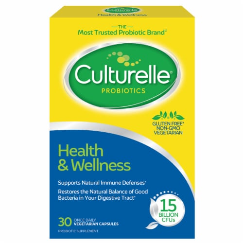 Culturelle Health & Wellness Probiotic Vegetarian Capsules Perspective: front