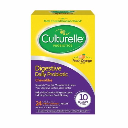 Culturelle Probiotics Digestive Health Orange Flavored Chewables Perspective: front
