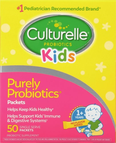 I-Health Culturelle Kids Daily Probiotic Packets 50 Count Perspective: front