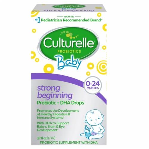Culturelle Baby + DHA Probiotics Perspective: front