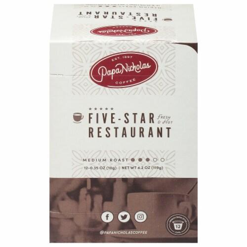 Papa Nicholas Five Star Restaurant Blend Single Serve Coffee Cups Perspective: front