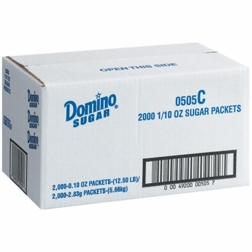 Domino Sugar Packets Perspective: front