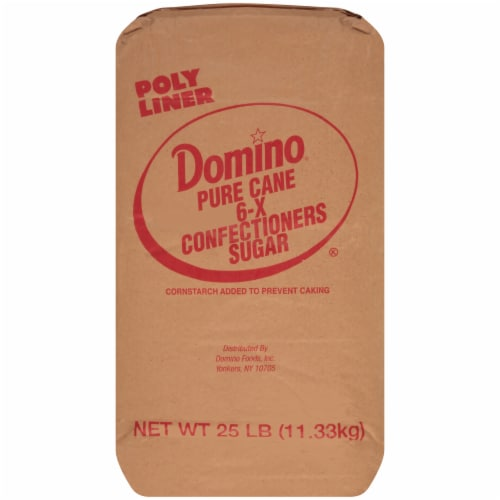 Domino Confectioners Sugar, 25 Pound Bag -- 1 each. Perspective: front