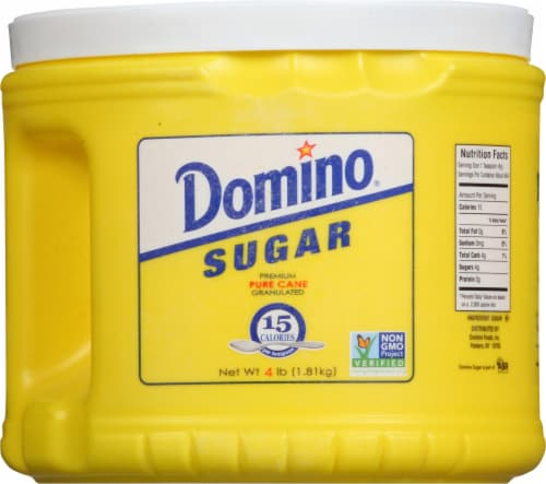 Domino® Pure Granulated Cane Sugar Perspective: front