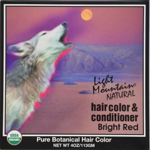 Light Mountain Natural Hair Color Cond Bright Red Perspective: front