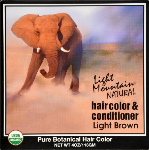 Light Mountain Natural Hair Color Conditioner Light Brown Perspective: front