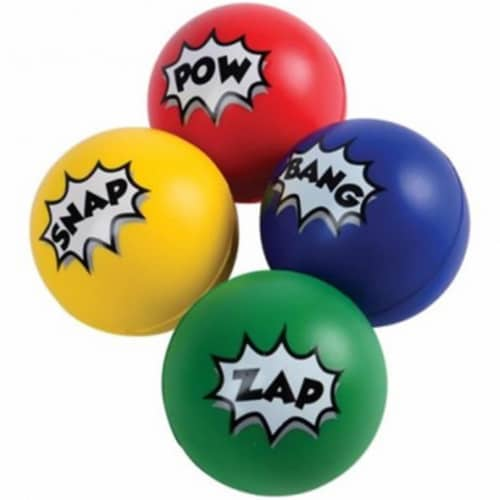 US Toy 4518 Superhero Stress Balls - Pack of 12 Perspective: front