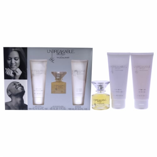 Khloe and Lamar Unbreakable Bond 1oz EDT Spray, 3.4oz Shower Gel, 3.4oz Body Lotion 3 Pc Gift Perspective: front