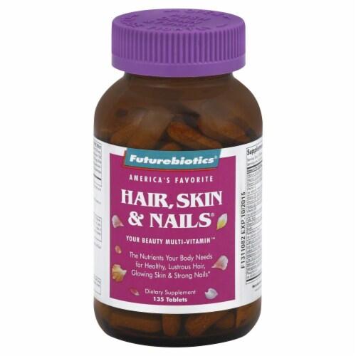 Futurebiotics Hair Skin & Nails Multi Vitamin Tablets Perspective: front