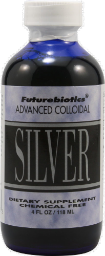 Futurebiotics Advanced Colloidal Silver Liquid Dietary Supplement Perspective: front