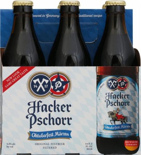 Hacker Pschorr Oktoberfest Marzen Beer Perspective: front