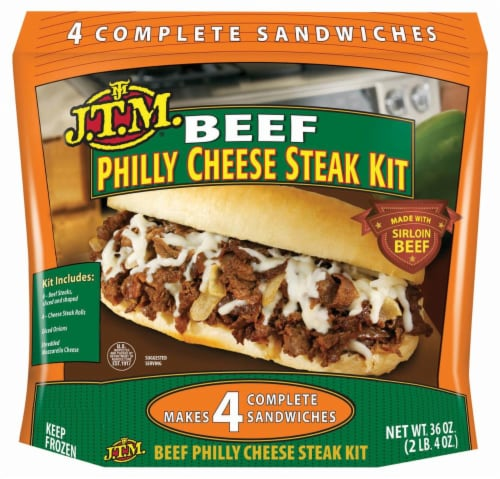 J.T.M. Beef Philly Cheese Steak Kit Perspective: front