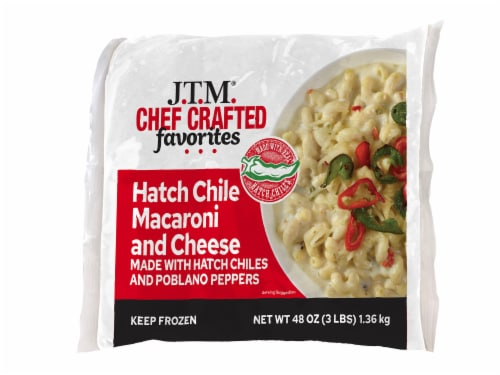 JTM Hatch Chile Macaroni and Cheese Perspective: front