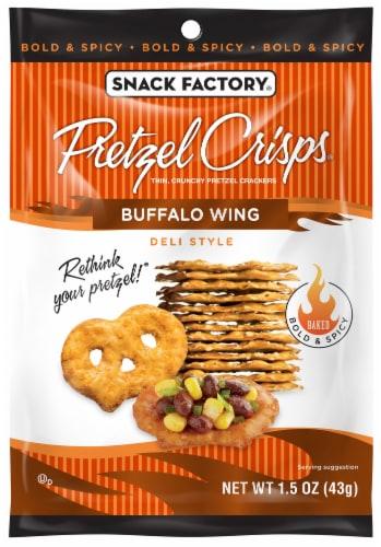 Pretzel Crisps Buffalo Wing Pretzel Crackers Case Perspective: front