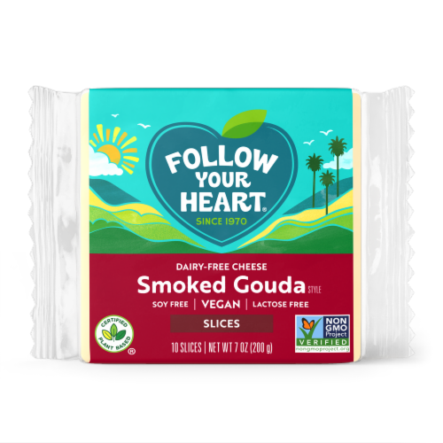 Follow Your Heart Smoked Gouda Slices Vegan Cheese Perspective: front