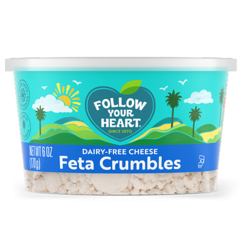 Follow Your Heart Dairy Free Feta Crumbles Perspective: front