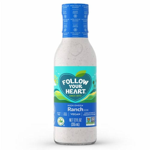 Follow Your Heart High Omega Vegan Ranch Salad Dressing Perspective: front