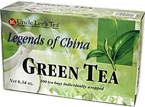 Legends of China Organic Green Tea Perspective: front