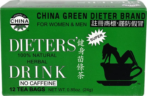 Uncle Lee's China Green Dieter's Tea Perspective: front